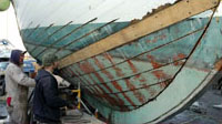 Planking the Halibut Schooner FV Olympic painting