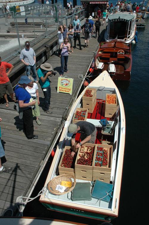 FarmBoatt skiff Cvita at Wooden Boat Festival